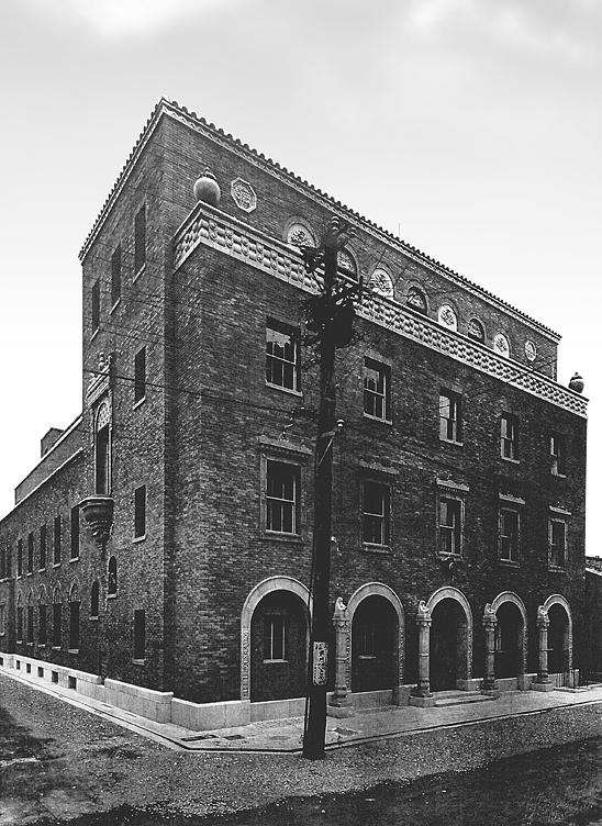 大正13年に竣工した当時の大阪倶楽部会館